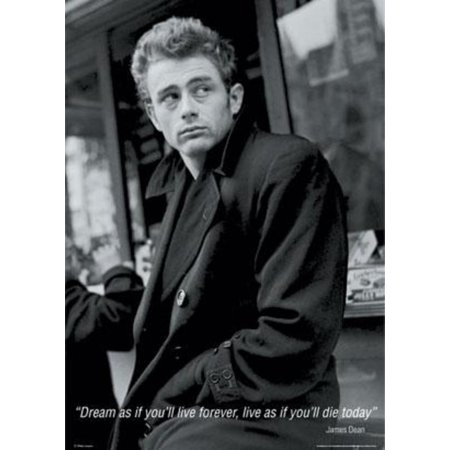 James Dean Dream As If Youll Live Forever Quote Movie Poster 24X36 Inch