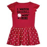 I Watch Baseball with My Mimi Toddler Dress