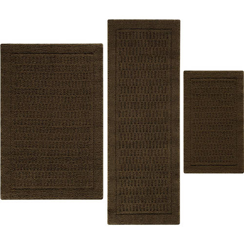 Mainstays Dylan Nylon 3-Piece Accent Rug Set Available In Multiple Sizes And Colors
