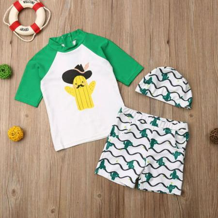 c23ec5340d Unisex Baby Kids Shark Short Sleeve Shirt Sunsuit Sun Protection Swimwear  Sets - Walmart.com