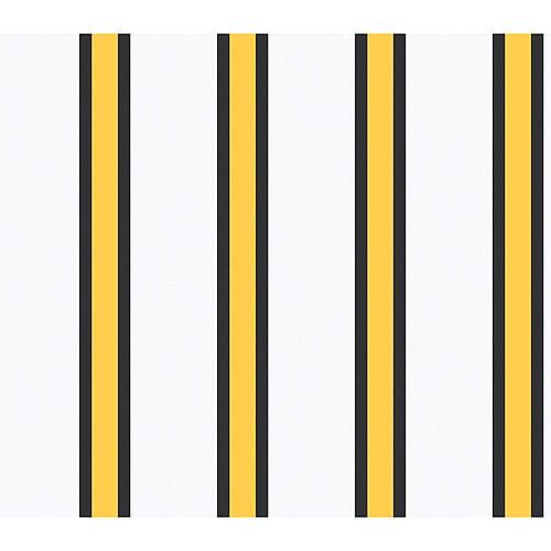 Blue Mountain Athletic Stripe Wallcovering, Yellow/Black