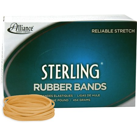 Alliance Sterling Rubber Bands   33  3 1 2   X 1 8   Natural Crepe  1Lb Box