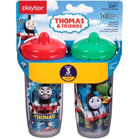 Playtex Sipsters Stage 3 Thomas & Friends Insulated Sippy Cup, 9 oz, 2 pk