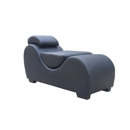 Kingway Furniture Faux Leather Palm Yoga Relaxing Chaise-Balck ()
