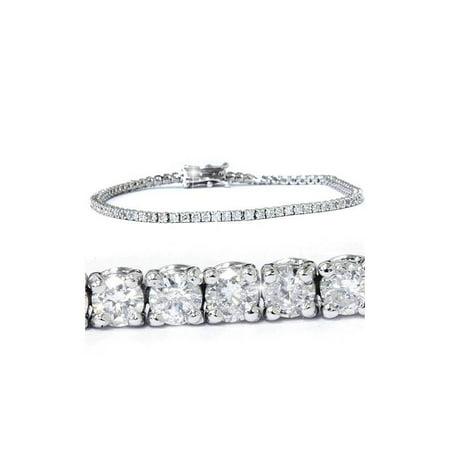 White Gold Round Diamond Bracelet (3ct. Round Cut Diamond Tennis Bracelet In 14k White Gold)