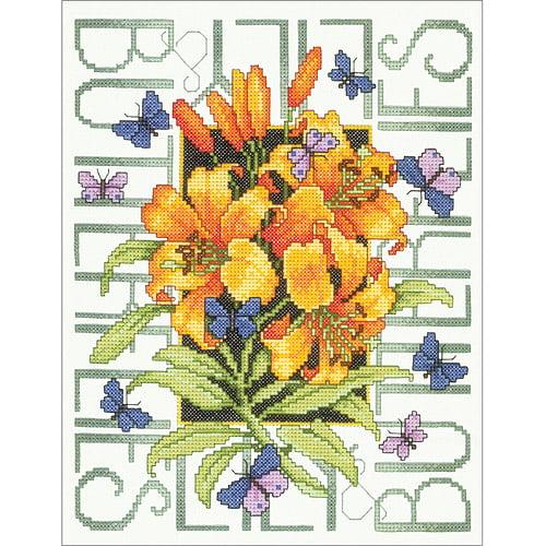Bucilla Butterflies Stamped Cross Stitch Kit