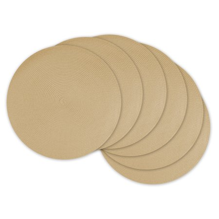 Woven Placemats (DII Round Woven Kitchen Placemat Set, Set of 6, 15