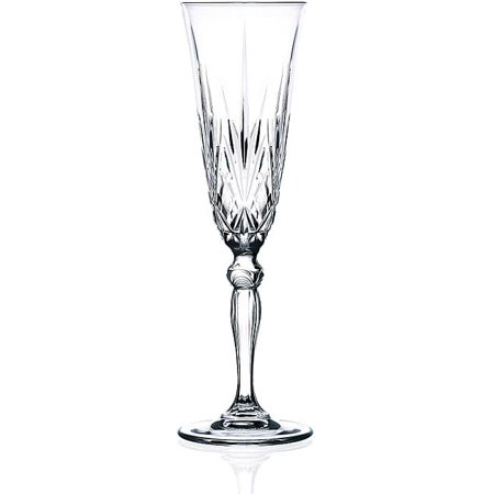 Lorenzo Melodia Collection Crystal Champagne Flutes (Set of - Crystal Champagne Glass
