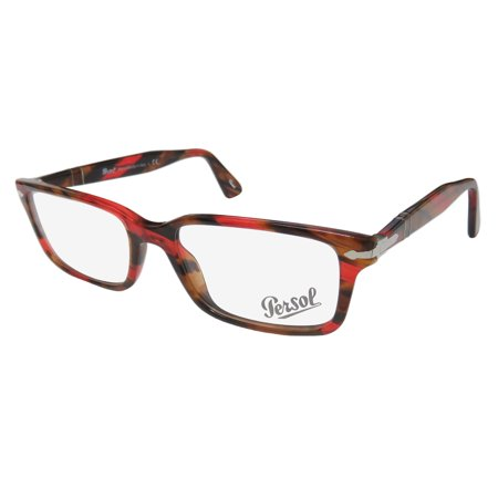 f41d1a8b26 New Persol 2965-V-M Mens Designer Full-Rim Red   Brown Pattern Frame Demo  Lenses 53-18-140 Spring Hinges Eyeglasses Glasses - Walmart.com