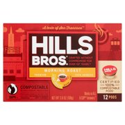 Hills Bros. Morning Roast K-Cup Coffee Pods, Light Roast, 12 Count Box