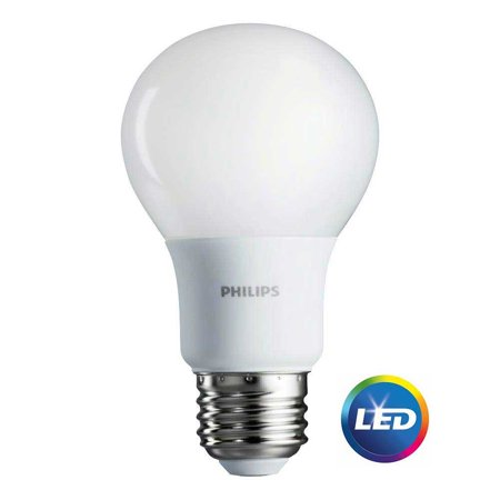 Philips 461129 800-Lumen, 8.5W A19 LED Light Bulb, 60W Equivalent (4-Pack) White
