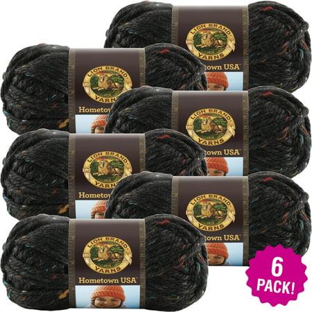 Lion Brand Hometown USA Yarn -Cambridge Tweed, Multipack of - 4 Ply Tweed Yarn
