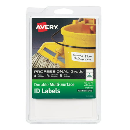 Avery Durable Multi-Surface ID Labels, Handwrite, 1.25