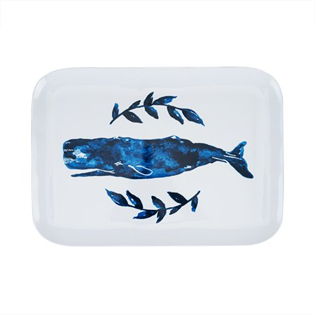 Seaside: Melamine Whale Platter by Twine