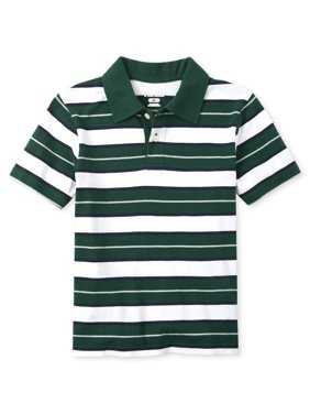 The Children's Place Short Sleeve Striped Polo (Little Boys & Big Boys)