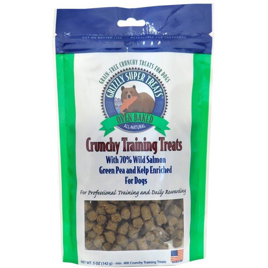 Grizzly Crunchy Training Treats, Green Pea & Kelp, 5 oz