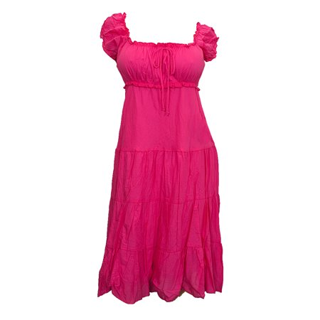 c4d4a281c81a eVogues Apparel - eVogues Plus Size Cotton Empire Waist Sundress Pink -  Walmart.com