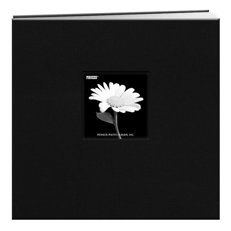 Pioneer Photo Albums 12x12 Fabric Frame Scrapbook, Black