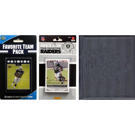 C&I Collectables NFL Oakland Raiders Licensed 2013 Score Team Set and Favorite Player Trading Card Pack Plus Storage Album
