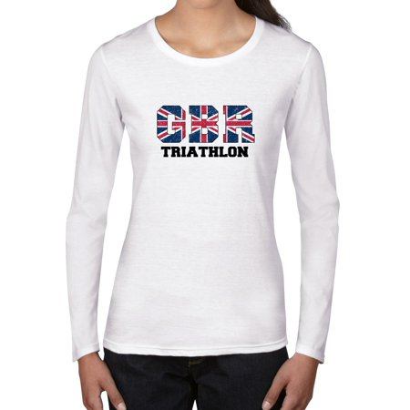 Great Britain Triathlon - Olympic Games - Rio - Flag Women's Long Sleeve (British Triathalon)