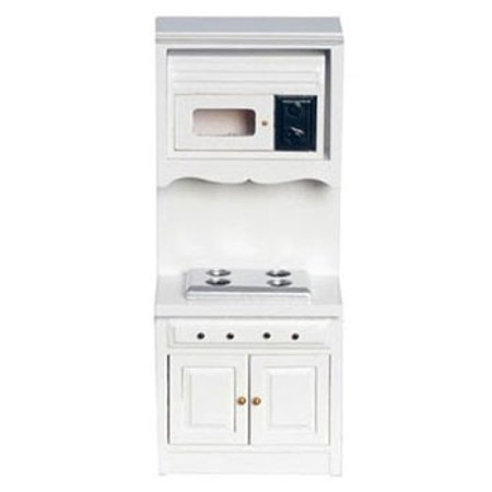 Dollhouse Oven W/Microwave, White OVEN W/MICROWAVE, WHITE from our line of kitchen accessories and Miniature Kitchen Furnishings & Fixtures to create a fresh new look for your dollhouse or miniature scaled project.