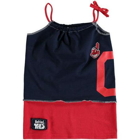 Girls Indin (Cleveland Indians Refried Tees Girls Toddler Tee-Tank Dress -)