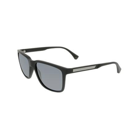 b3875b35dec8 Emporio Armani - Emporio Armani Men s EA4047-506381-56 Black Square  Sunglasses - Walmart.com