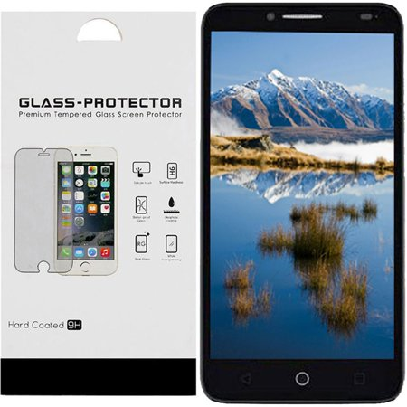 For ZTE Blade Z MAX Bulk White Paper Card Package Tempered Glass