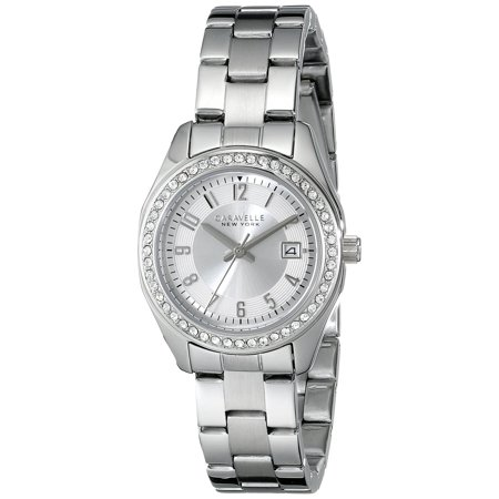 Caravelle New York Womens Stainless steel Analog Display White Dial Silver Watch - 43M108