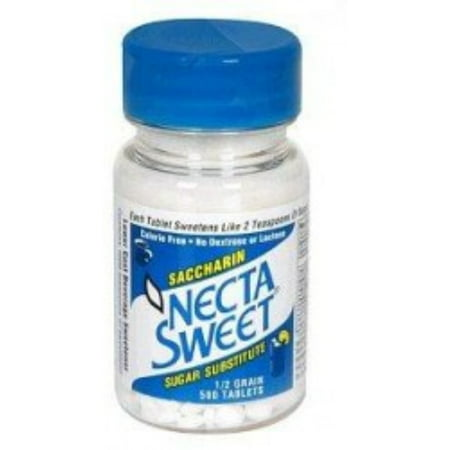 - 4 Pack - Necta Sweet Saccharin Sugar Substitute 0.5 Grain Tablets 500 ea
