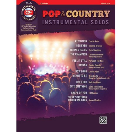 Alfred Pop & Country Instrumental Solos -Clarinet Book &
