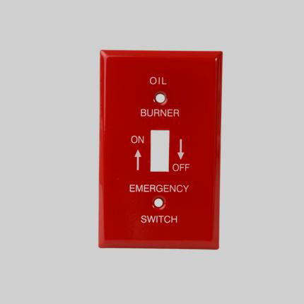 Diversitech For Devco Pi393 Emergency Oil Burner Switch Wall Plate