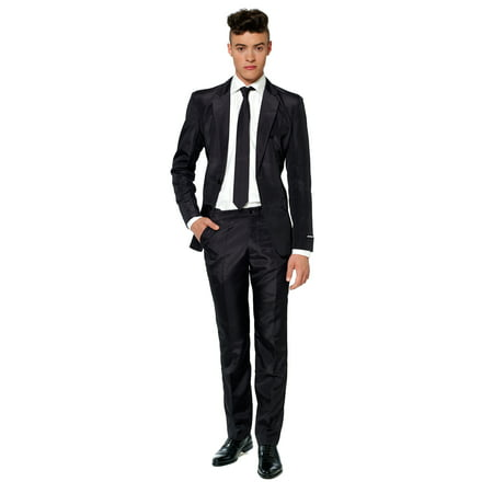 Suitmeister Men's Solid Black Solid Suit (Proximity Suit)