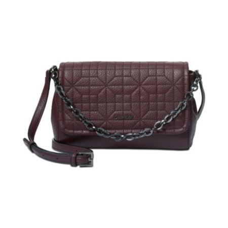 CK Hera Quilted Pebble Small Cros Rum