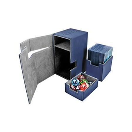 Flip Deck Box w/Tray - Xenoskin, Blue (80+) New