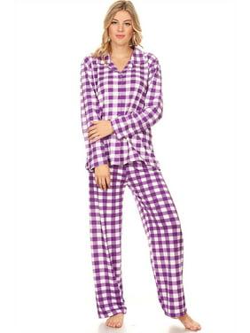 3d2f13b3913b Product Image Z2150 Womens Sleepwear Pajamas Woman Long Sleeve Button Down  set Black XXL