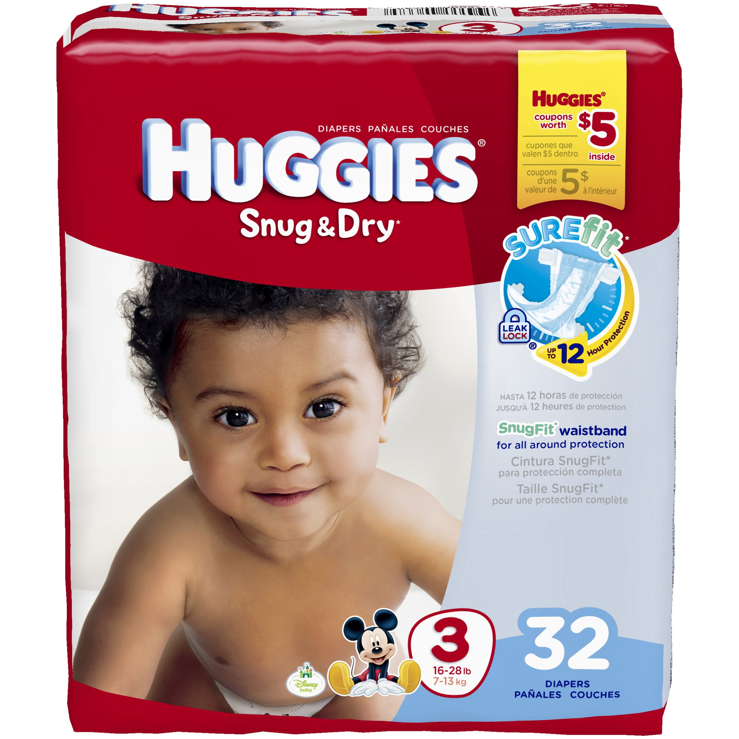 HUGGIES Snug & Dry Diapers, (Choose Your Size)