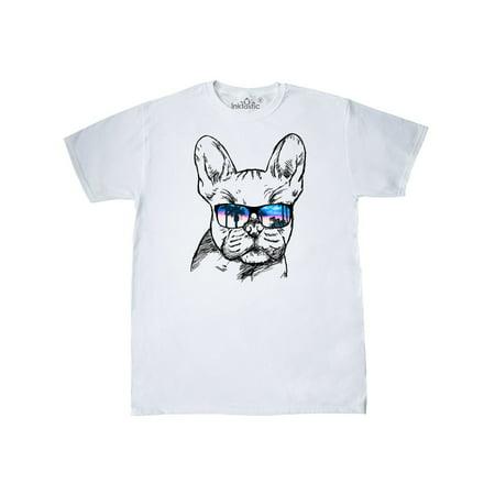 French Bulldog Merchandise - French Bulldog Portrait with Sunglasses T-Shirt