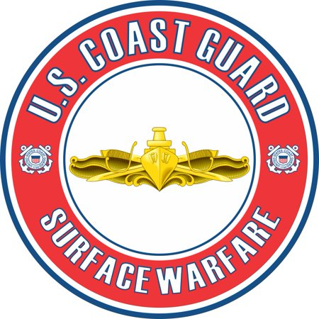 3.8 Inch U.S. Coast Guard Surface Warfare Officer Badge Decal Coast Guard Officer Rank