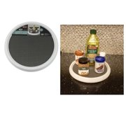 Non-Skid Pantry Cabinet Lazy Susan Spice Turntable12-Inch Rotates 360 Degrees Closet Organizer