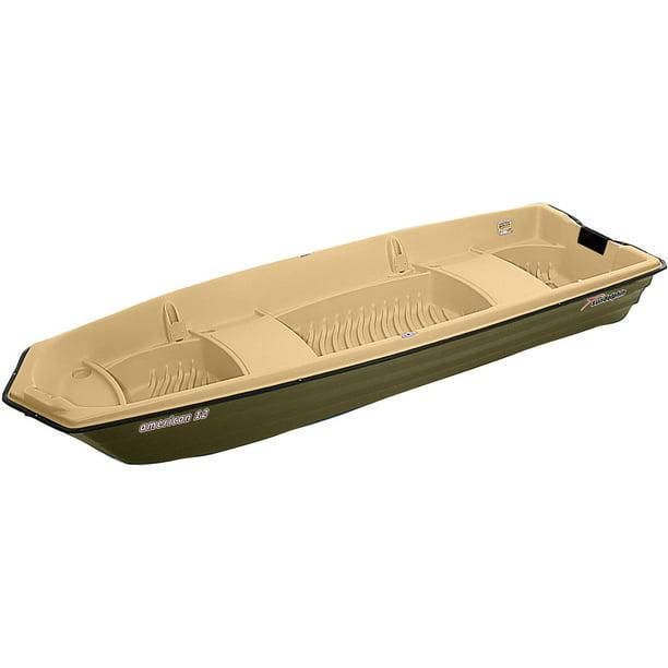 Sun Dolphin American 12' 2 Person Jon Boat Olive/Sand, Portable