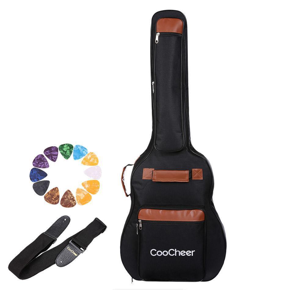 """41"""" Acoustic Guitar Bag Folk Oxford Double Shoulder Bag Soft Case Gig Bag Padded by"""