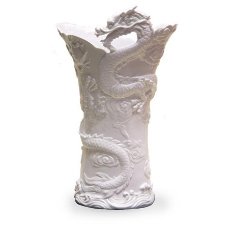 Chinese Dragon Large Vase (White) - Ethnic Collectibles.