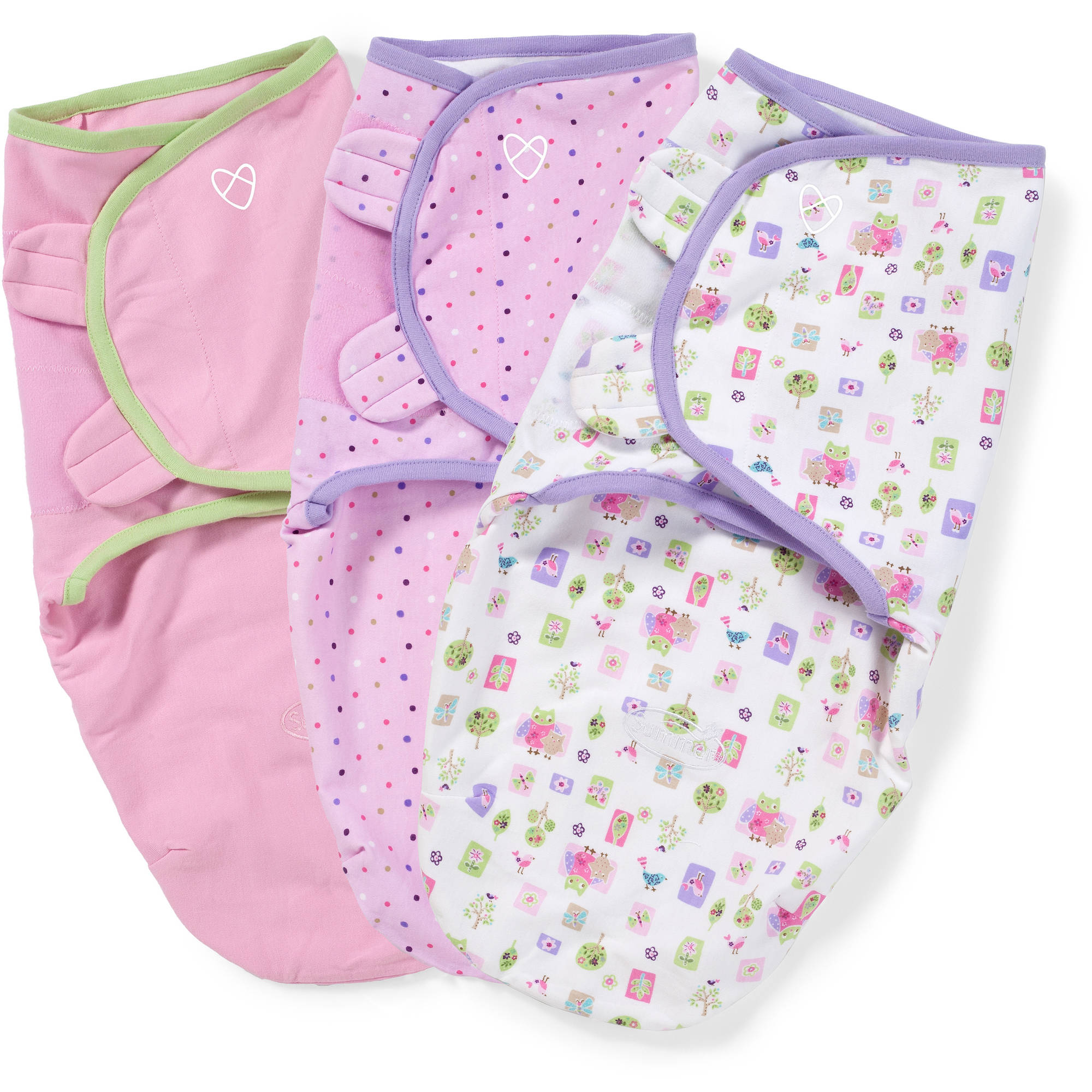 SwaddleMe Original Swaddle, 3-Pack, Who Loves You, Small