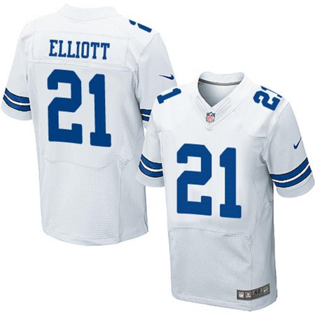 the best attitude 0c665 2c1b3 Dallas Football Cowboys Men's Ezekiel Elliott #21 Nike White ...