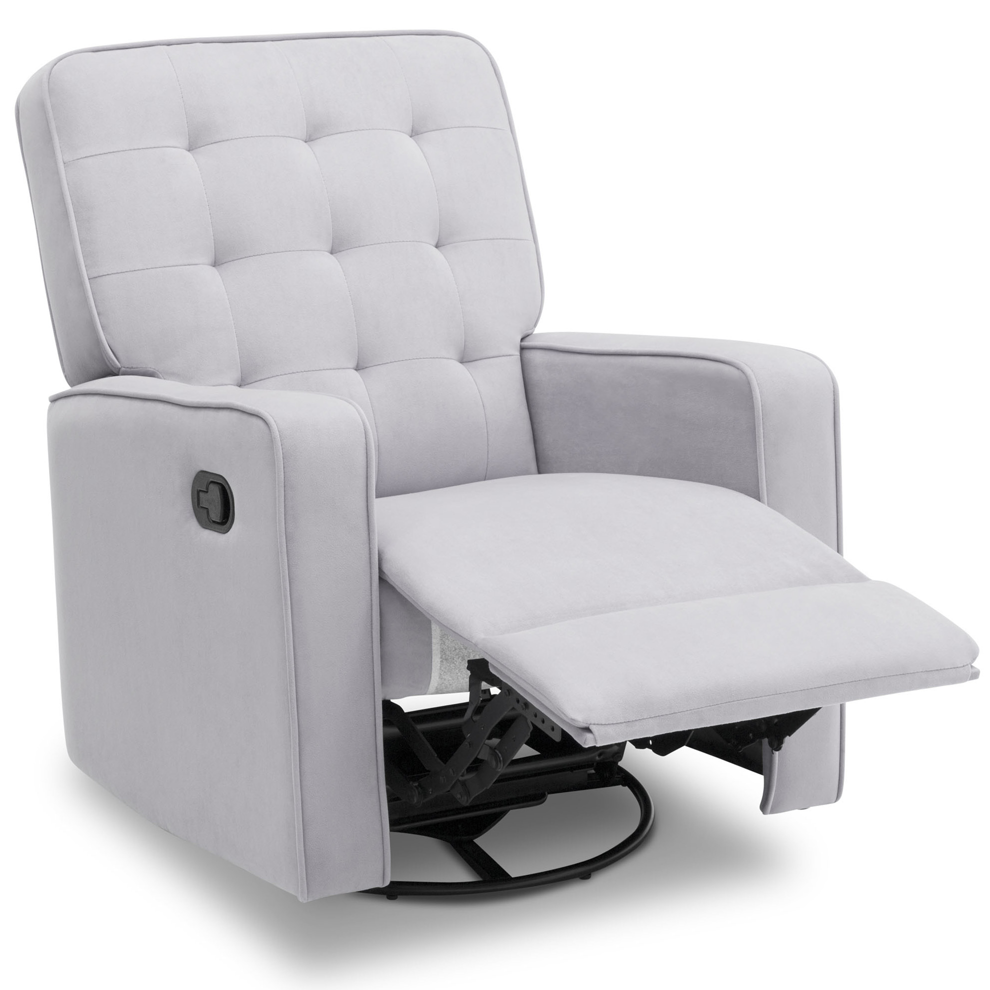 Delta Children Graham Nursery Glider Swivel Recliner Featuring LiveSmart Fabric by Culp, Linen