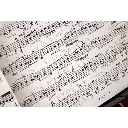 LAMINATED POSTER Music Music Score Treble Clef Melody Composition Poster Print 24 x 36