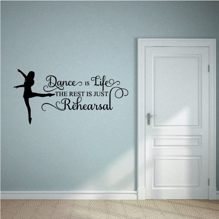 Dance is Life Wall Decal Vinyl Decal Car Decal Vd075 36 Inches