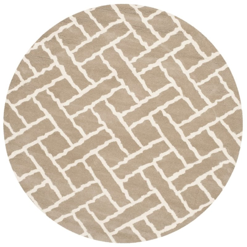 Safavieh Chatham 4' X 6' Hand Tufted Wool Rug in Beige and Ivory - image 7 of 10