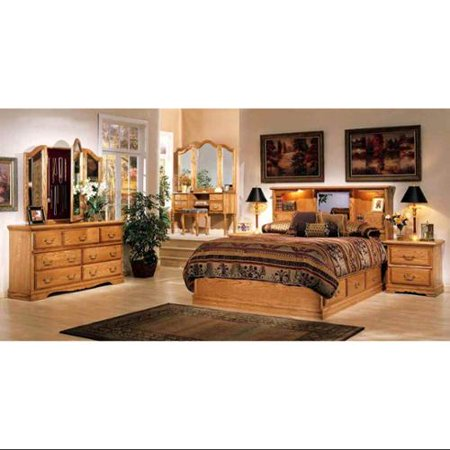 Bebe 6 Pc Platform Pedestal Bedroom Set picture
